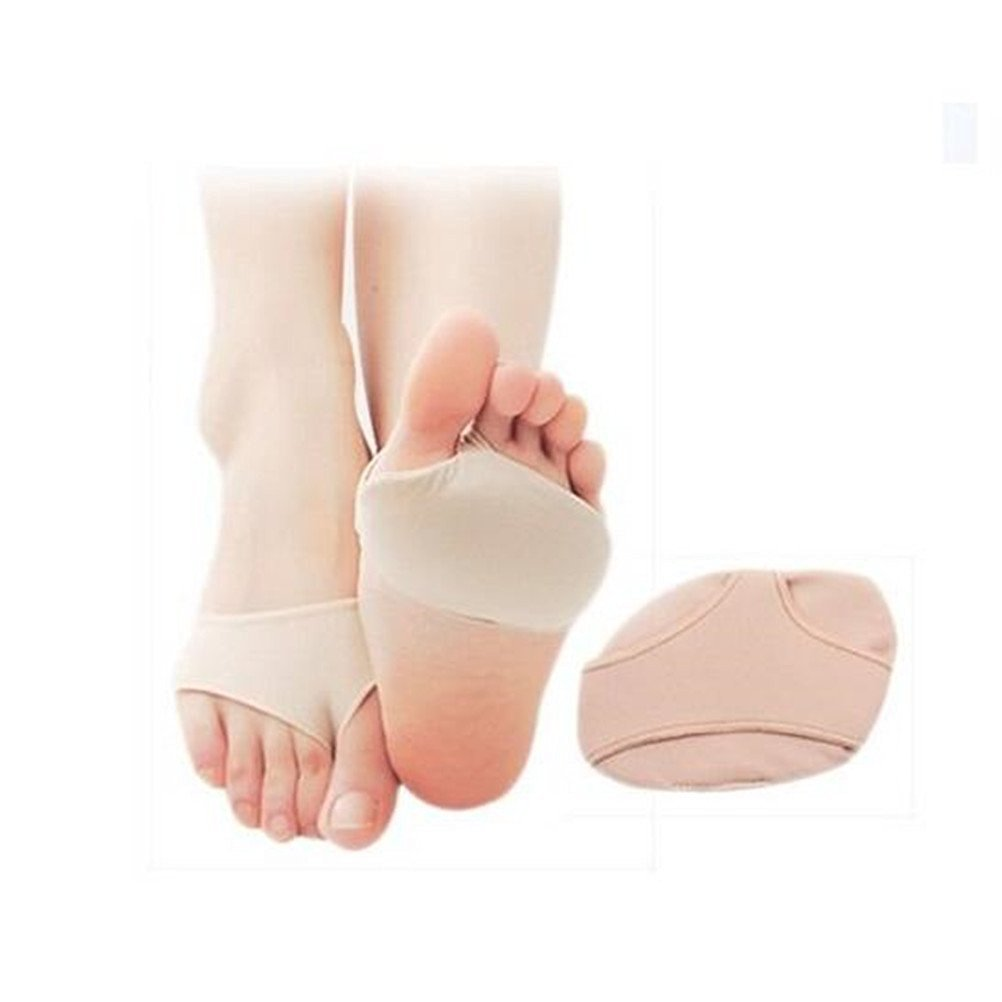 Yosoo 2pcs Foot Gel Forefoot Support Metatarsal Pain Relief Sore Absorber Cushion Insole Bunion Pad & Toe Spacer Ball of Foot Pad Toes Orthotic