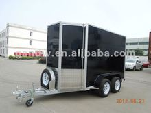 Enclosed Cargo Trailer V shape with Double Open Door&a Spare Tire