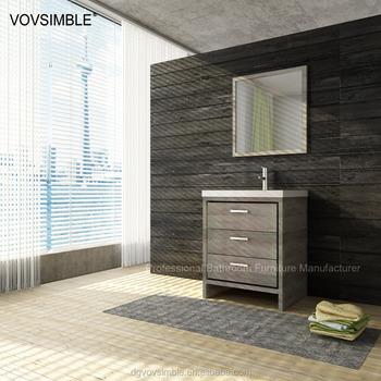 Wenge Wood Veneer Finished 21 Inch Bathroom Vanity Cabinet