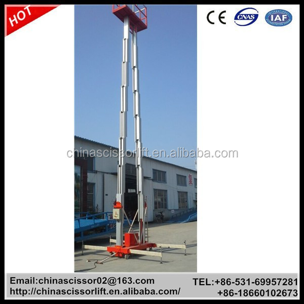 16-18m Electric Telescopic ladder lift / mobile Aluminium Ladder