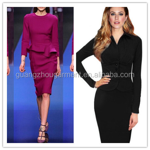 2017 Fashion Modern Women S Ol Long Sleeve Office Lady Wear Suit Dress