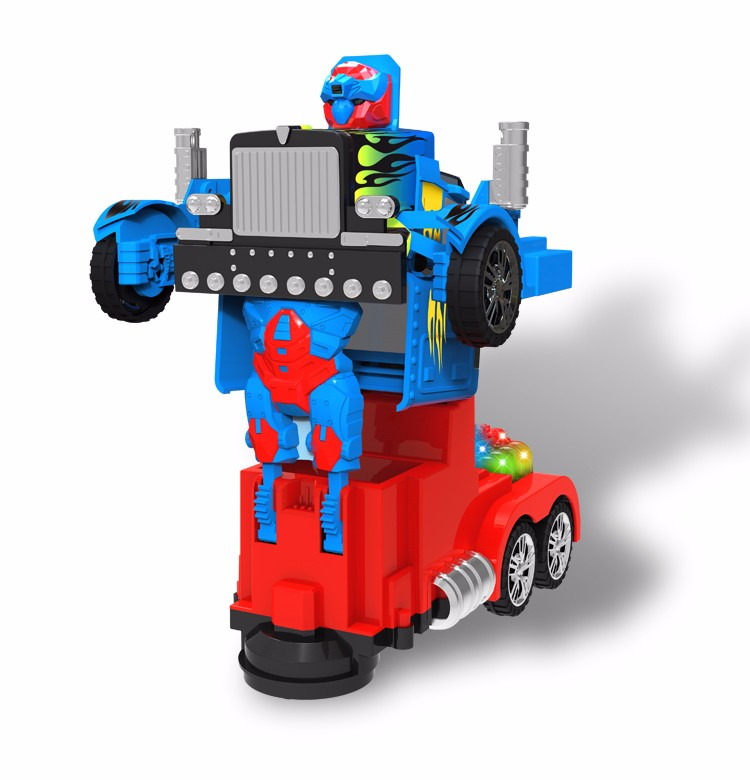Children's music toy transform robot electric car