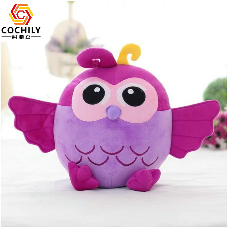 cheap colourful owl birthday gift plush toy for babies cute stuffed <strong>animals</strong>
