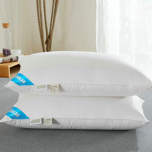 2019 new product amazon hot selling White duck/goose feather&down neck body pillow for hotel and home high quality pillow