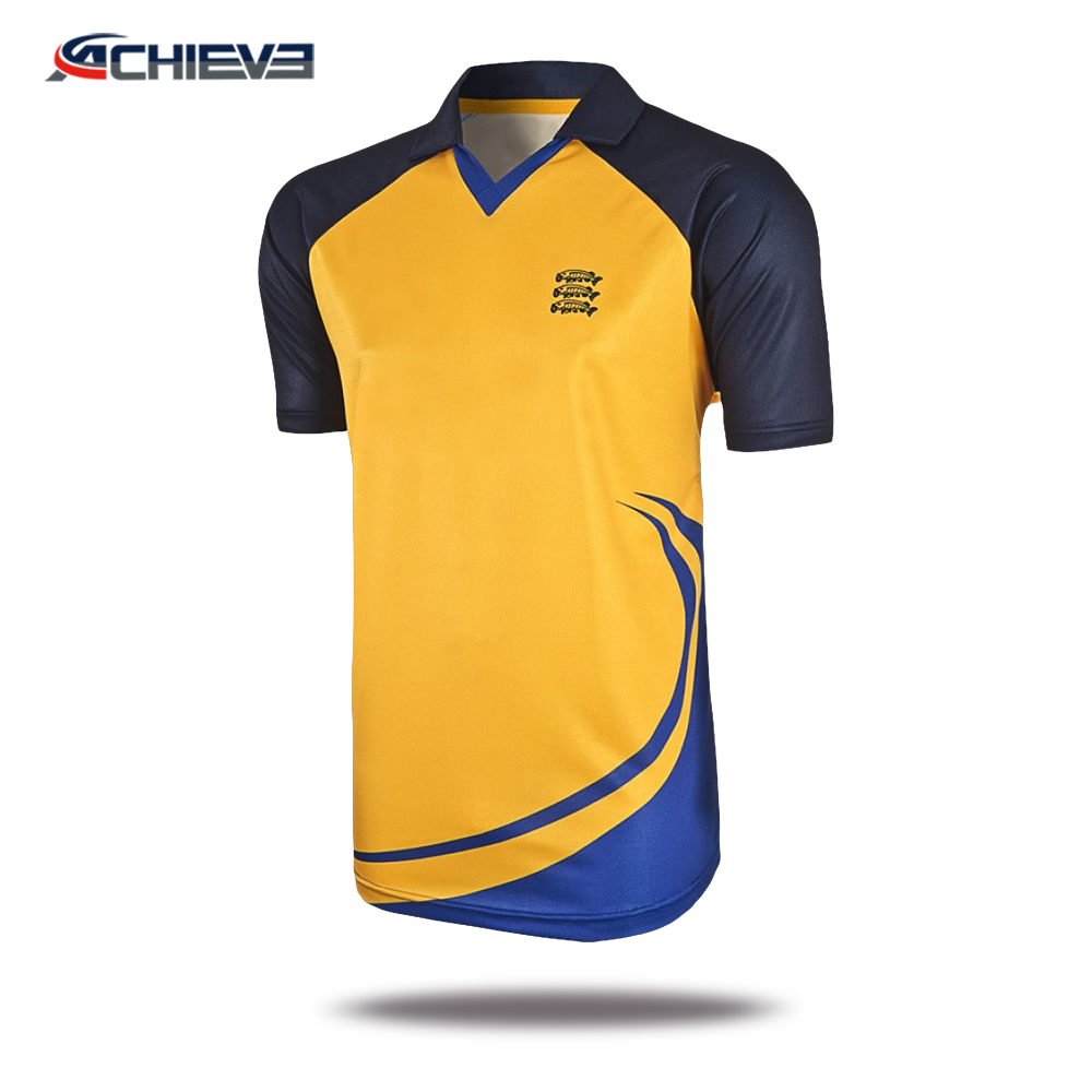 d8ed22db Sublimated customized team cricket jerseys , sport t shirt design cricket