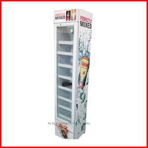 SC105B high quality metal commercial slim glass one door refrigerator price