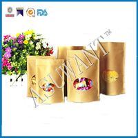 craft paper abg 80g 100g 250g 500g 1kg foil lined paper stand up brown kraft paper bags