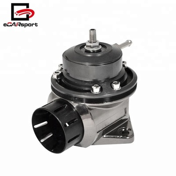 Universal Adjustable Type FV 40mm Blow Off Valve Kit Aluminum BOV Black Flange Kit