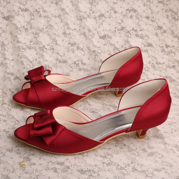 8013a4f10611 21 Colors)wine Red Special Occasion Shoes Low Heel - Buy Wine Red ...