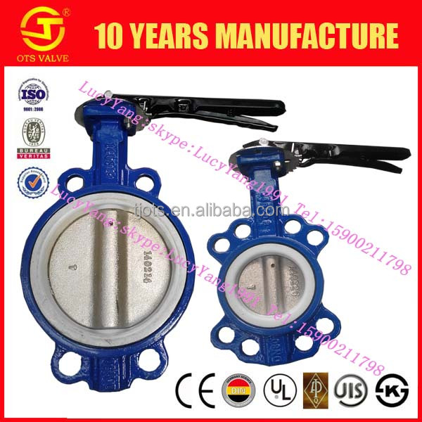 BV-LY-0295water acids alkali media hand manual butterfly valve