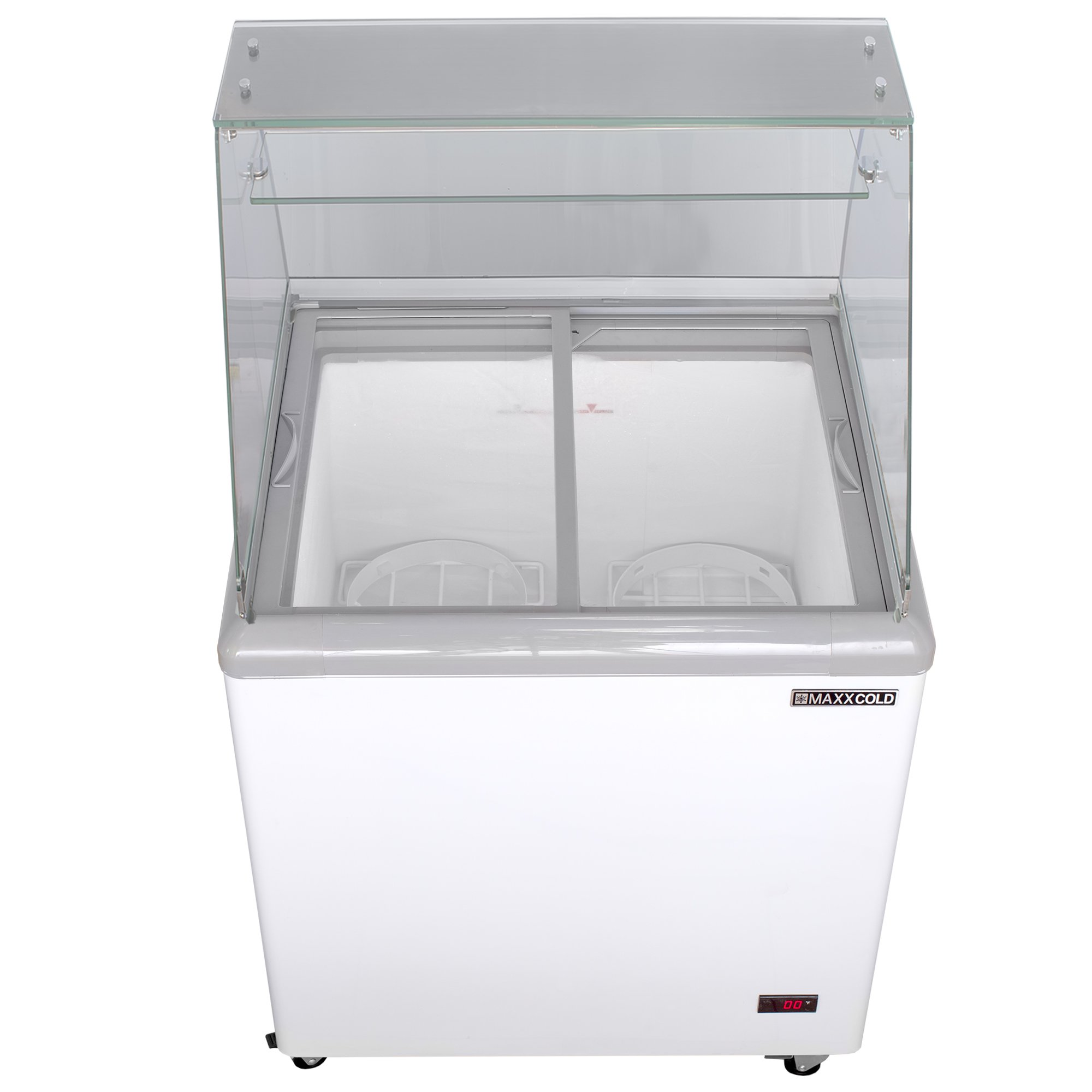 """Maxx Cold MXF71F 71/"""" 20 cu ft Commercial Mobile Ice Cream Display Freezer"""