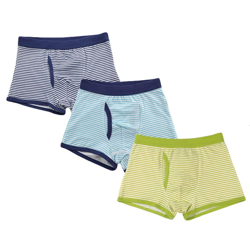 649ff0426 Get Quotations · Little Boys 3-Pack Boxer Briefs Set Cotton Blend Kids  Underwear (Toddler/Kid