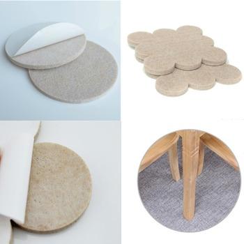 2017 New Hot Alibaba China Bulk Sale Handmade Polyester Furniture Leg Pads  Wholesale Felt Bottom Desk