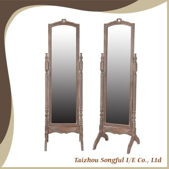 French countryside style floor standing mirror, dressing mirror, standing mirror