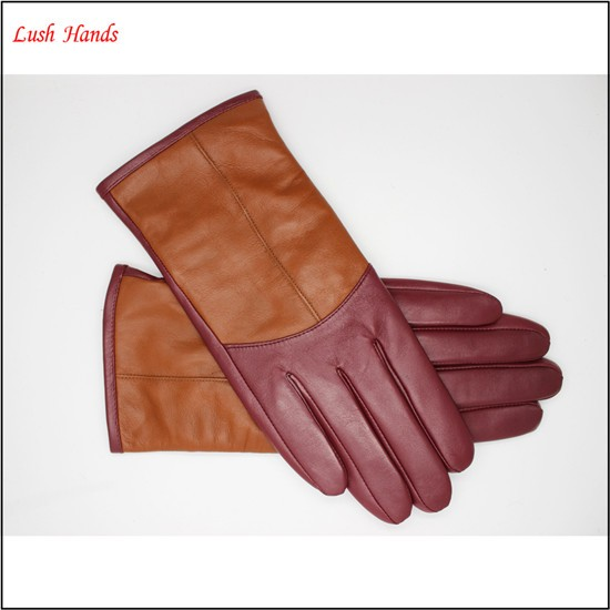 2017 new style women custom-made colored leather gloves