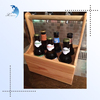 Wooden wine bottle carrier,wooden wine carrier,6 pack beer bottle carrier