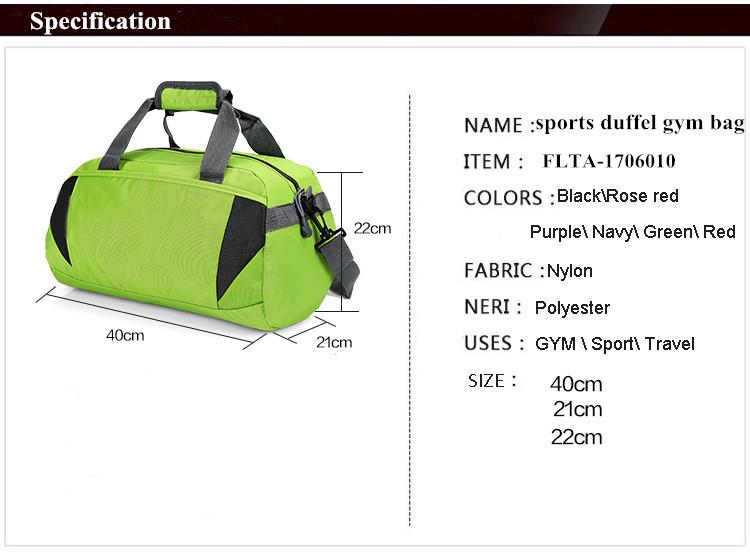cd5b8538261c Fashion Colour Popular Wholesale Sports Duffel Gym Bag - Buy Sports ...
