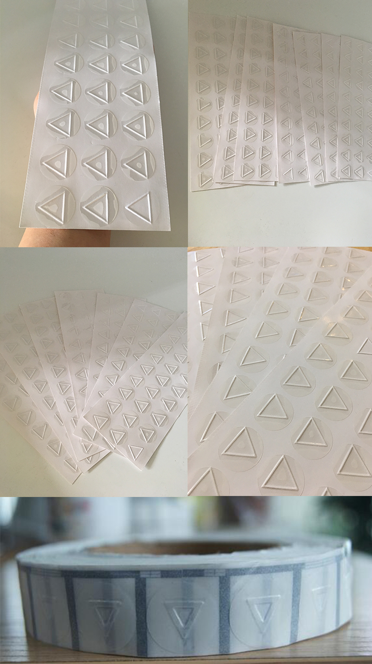 transparent blind triangle 9mm tactile sticker warning clear vinyl stickers