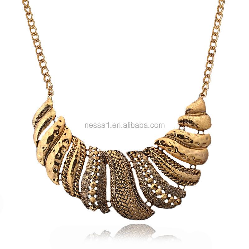 2017 Nessa New Design Gold Necklace Zq-0135 - Buy New Design Gold ...