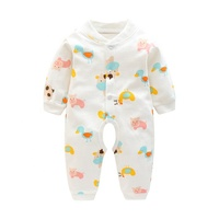 New Arrival Wholesale 100% Cotton Baby Clothes Romper Autumn Baby Animal Baby