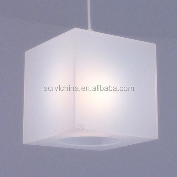 Translucent frosted white Lucite Acrylic lamp covers Cube lamp light LED shade