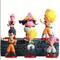 6pcs Bandai Dragonball z Genki figurines toy 2015 New super saiyan 7 kai Miniatures Anime figuras