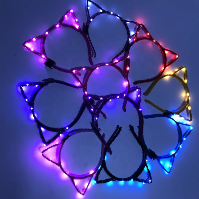 2019 New Christmas Party Concert Animals Cat Flashing Light Up LED Headband
