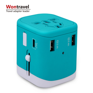 Wontravel Own Patent 5v 4.5A 4 USB Universal Travel Charger Multi Plug Cell Phone Super Fast Mobile Charger