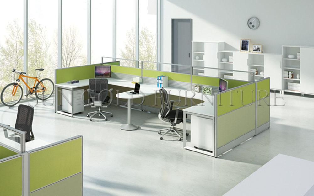China Manufacturer 2 Seater Office Computer Workstation Cubicle