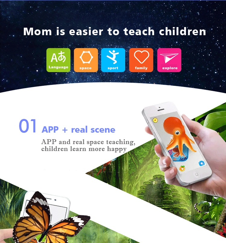 2018 trending products augmented reality Interactive 4D AR Flashcards for kids