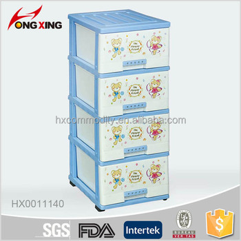 Blue bear printing 4-LAYER plastic baby storage drawer  sc 1 st  Alibaba & Blue Bear Printing 4-layer Plastic Baby Storage Drawer - Buy Mini ...