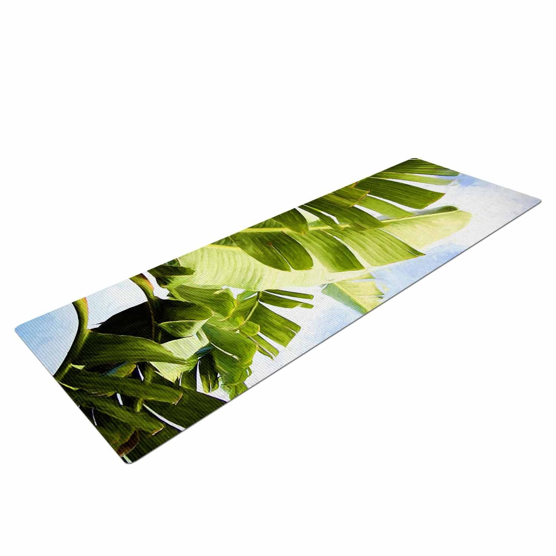 "KESS InHouse Sylvia Cook ""Trpical Charm"" Blue Green Yoga Mat, 72"" X 24"""