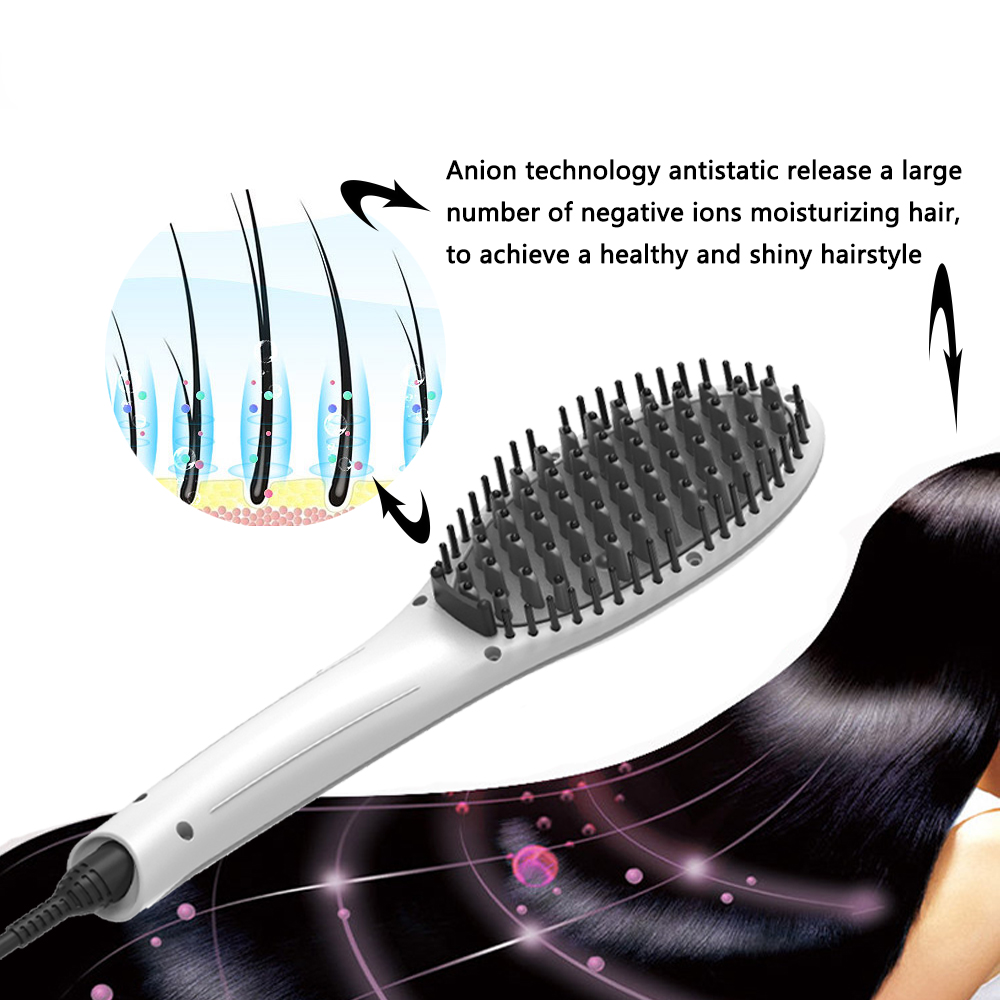 Sabeco Professional LCD display Hair Comb Electric Ceramic Hair Straightener Brush
