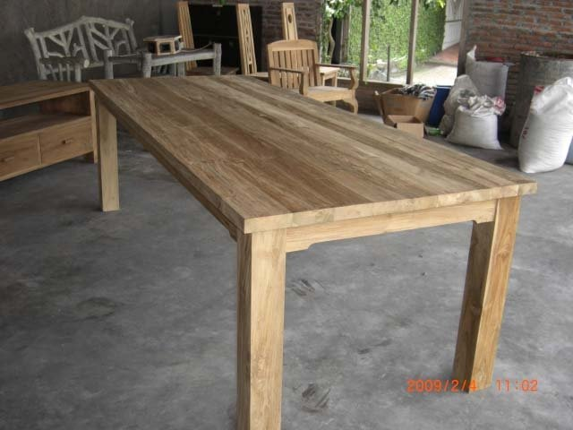 Mesa comedor de teca reciclada mesas de madera - Mesa de teca ...