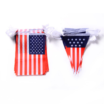 2018 Wholesale high quality Customized Polyester Fabric Pvc paper Bunting flags