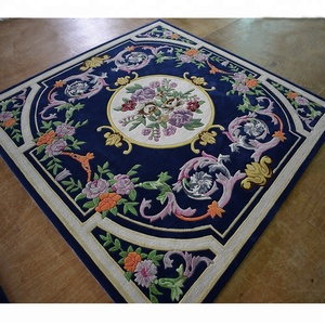 Beautiful Floral Area Rug Cut Pile Carpet Decoration For Living Room