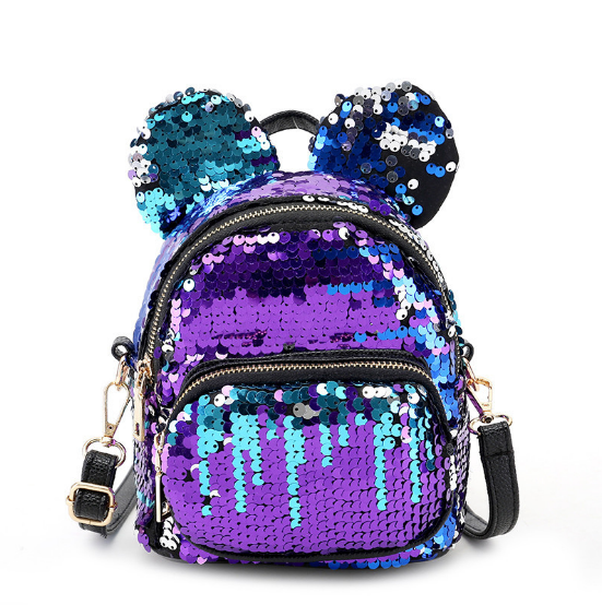 Osgoodway2 Most Fashion Magic School Backpack Mermaid Reversible Sequin Backpack Bag for Children