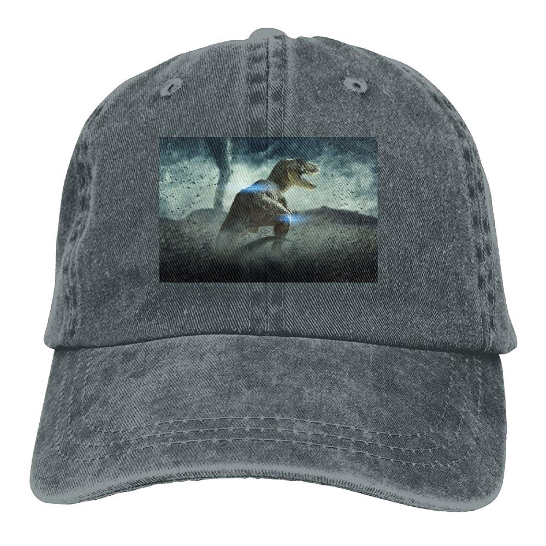 Trableade Landscape With Dinosaur Pattern Unisex Sport Adjustable Structured Baseball Cowboy Hat