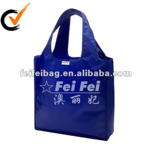 Royal blue foldable bag polyester shopping holder