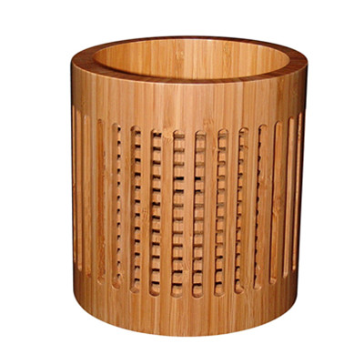 wholesale price round bamboo utensil holder for its special design