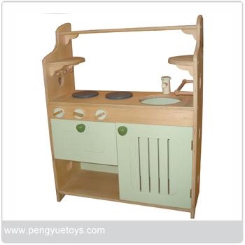 Mini Lemari Dapur Anak Anak Bermain Kitchen Set Mainan Kayu Py1266