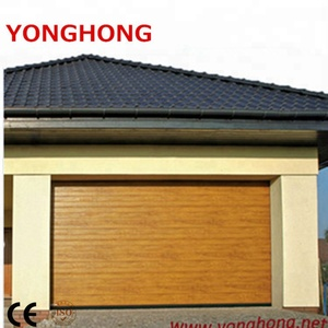 Steel wooden sectional garage door