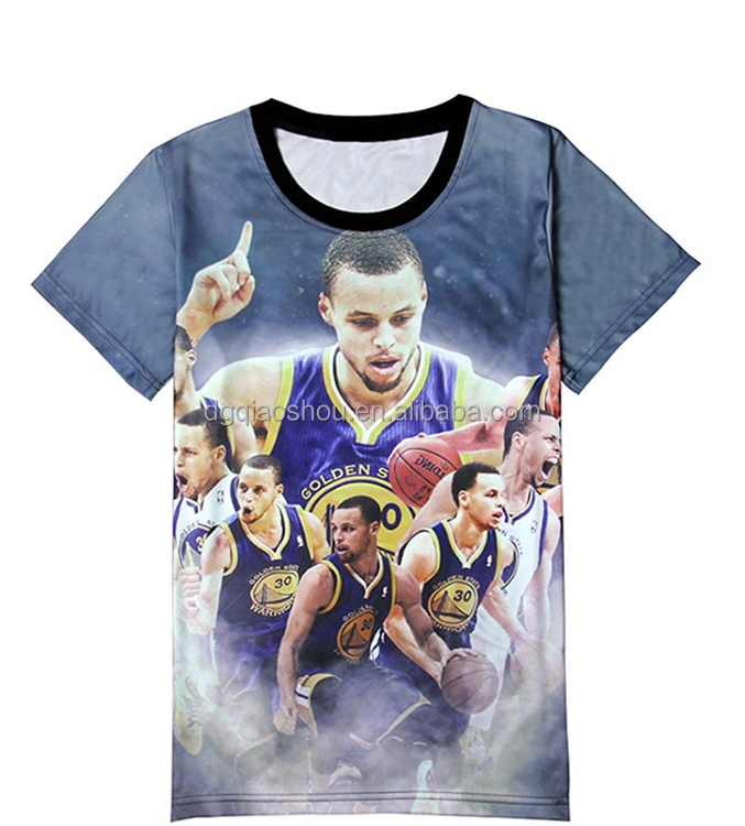 2016 New Style 3D print Tshirt in printed basketball players Mens T <strong>shirt</strong> in 3d print of famous basketball players