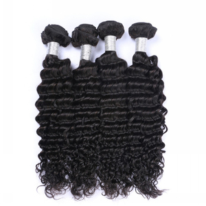 Top quality free sample 100% virgin Peruvian human deep wave hair bundles private label hair extensions