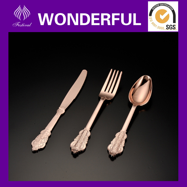 European Style Luxury Wedding Cutlery Flatware Dinner Set