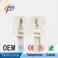 RJ11 6P4C 6p2c telephone Patch cord cable