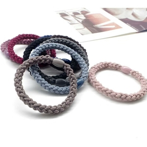 Braided hair elastic loop Braided pony tail holders