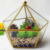 Gold Geometric Glass Terrarium Wholesale For Garden Decoration
