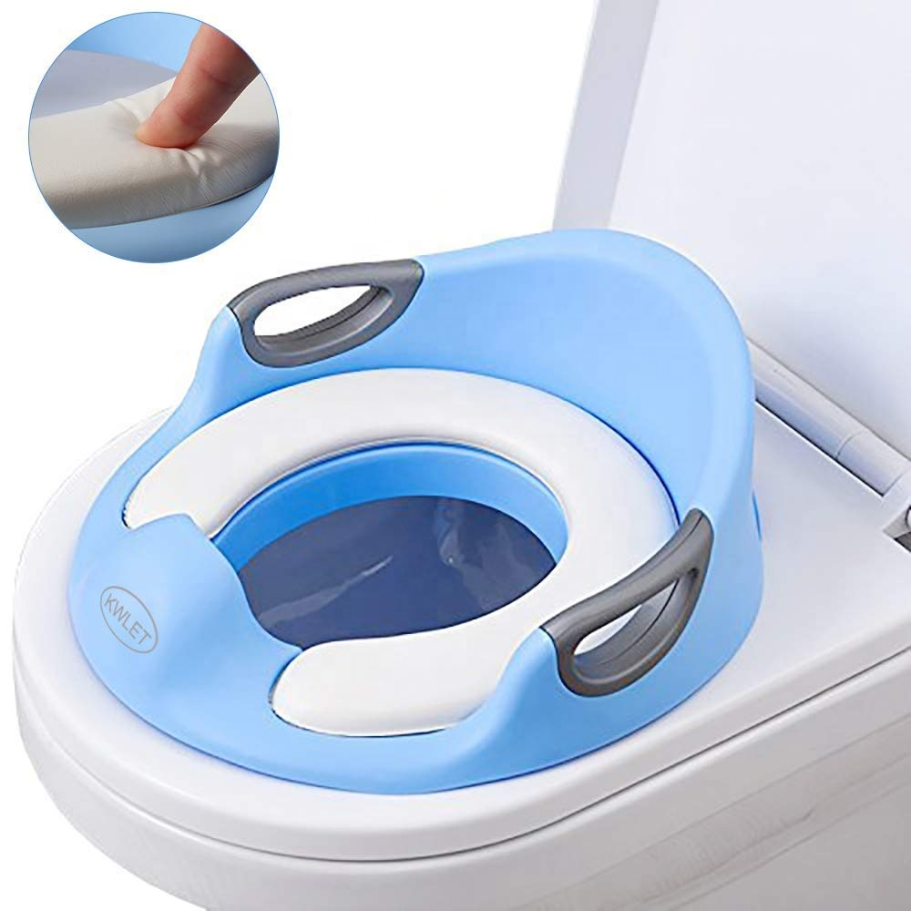 Toilet Seat For <strong>Baby</strong> With Cushion Handle And Backrest Potty Training Seat For Kids Toddlers Potty Training Urinal
