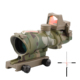 SPINATactical ACOG 4X32 Red Dot Sight Scope Fiber Source Illuminated Rifle Scope w/ RMR Micro Hunting Scopes